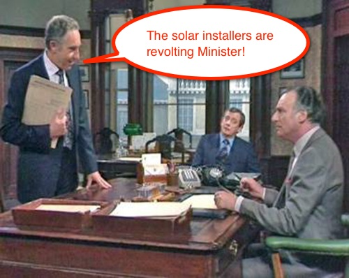 Sir Humphrey discusses the UK's Solar Feed In Tariff