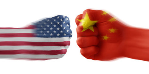 US and Chinese fisticuffs