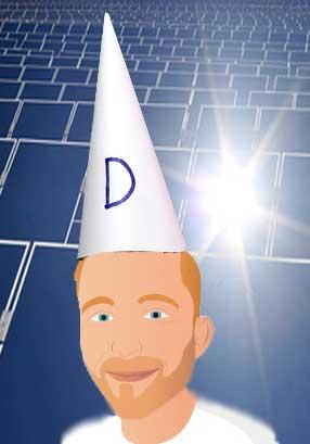finn in dunce's hat