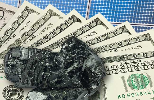 coal cash and solar