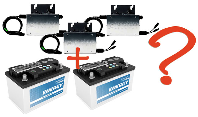3 microinverters and 2 batteries