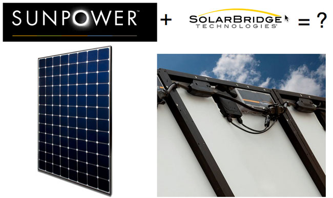 sunpower and solarbridge logos