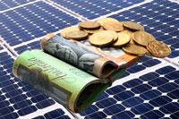 solar panels and australian cash