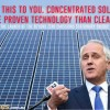 malcolm turnbull and solar panels