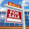 for sale sign and solar panels
