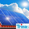 trina solar logo and panels