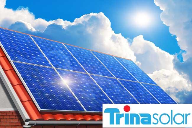trina solar logo and panels