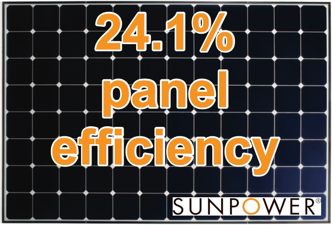 sunpower panel efficiency