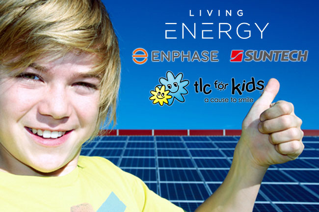 kid and solar panels