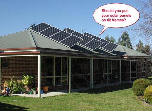 tilt frames for solar panels