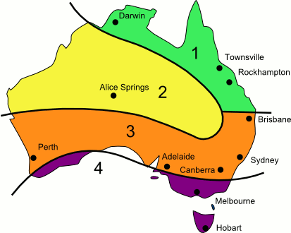 Hot water STC climate zones