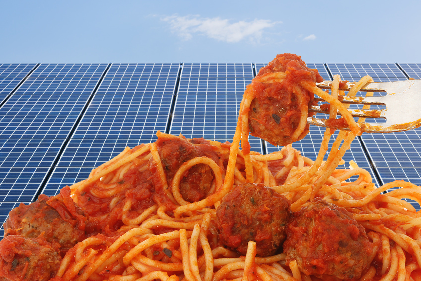 meatballs and solar panels