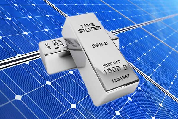 silver bars and solar panels