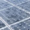 solar array in the rain