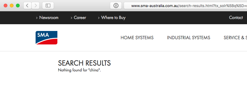 search on SMA website