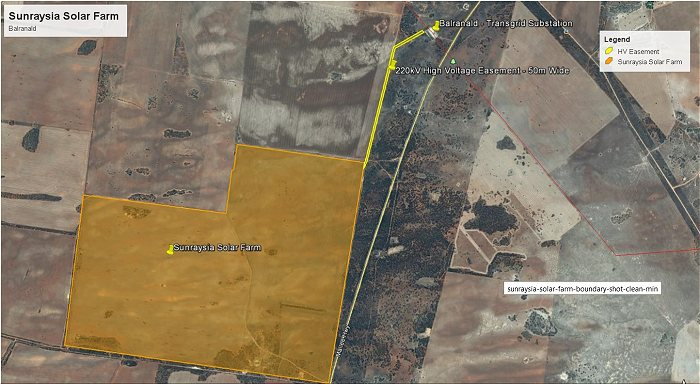 Sunraysia Solar Project Site Map