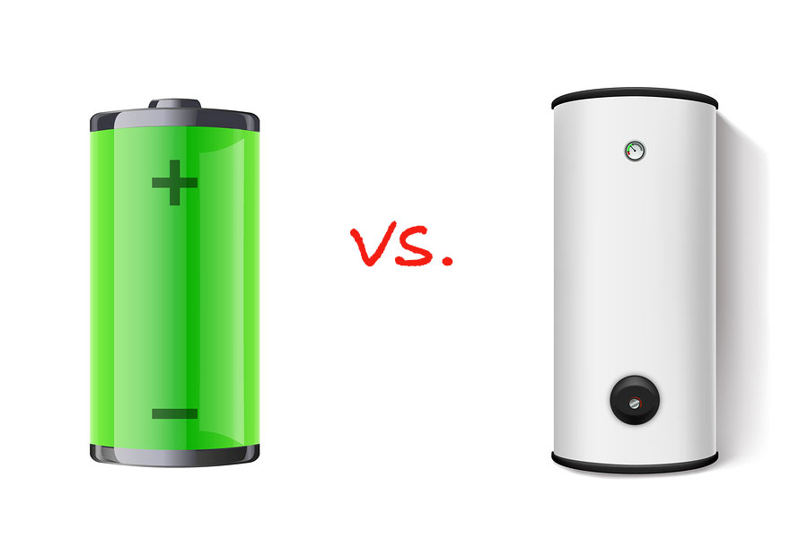 battery vs hot water cylinder