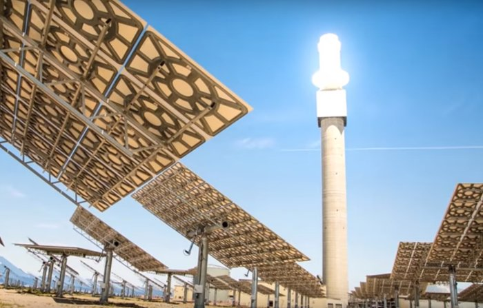 Solar thermal + energy storage