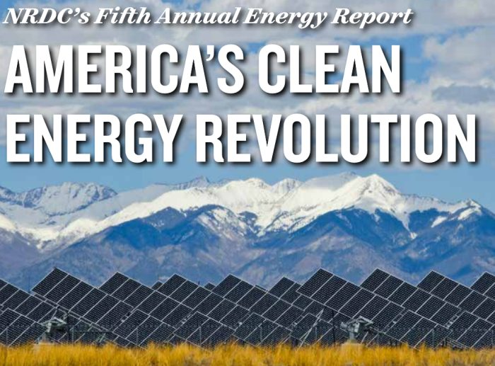 NRDC Fifth Annual Energy Report