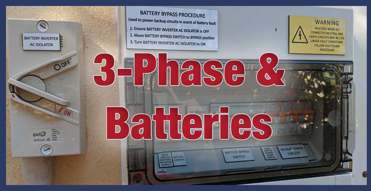 Dont Add Batteries To A 3 Phase Home Before Reading This Iv Wiring And The Frequency Inverter Setting Homes Solar Battery Systems