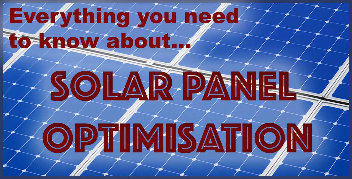Solar panel optimisation