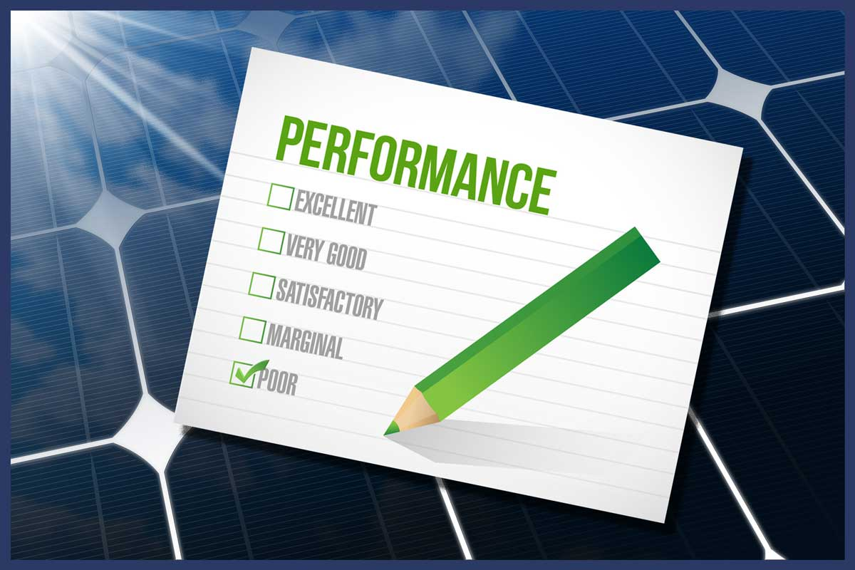 Poor solar panel performance? What you should check