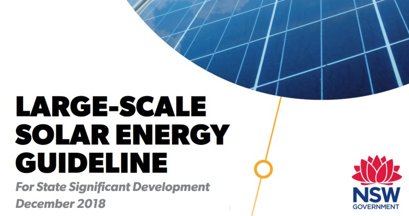 NSW Large Scale Solar Energy Guideline