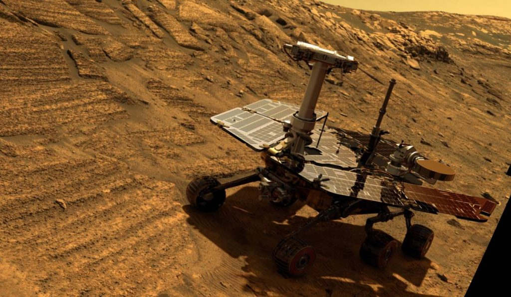 Solar powered Mars rover Opportunity