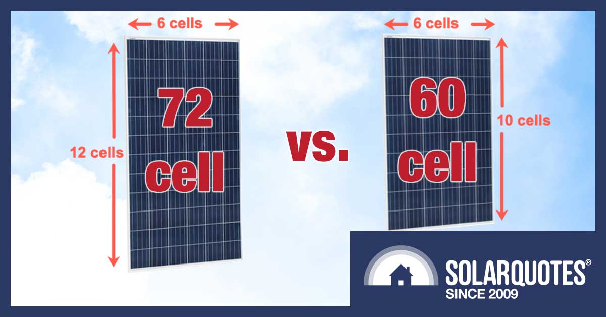 72 cell vs 60 cell solar panel - size