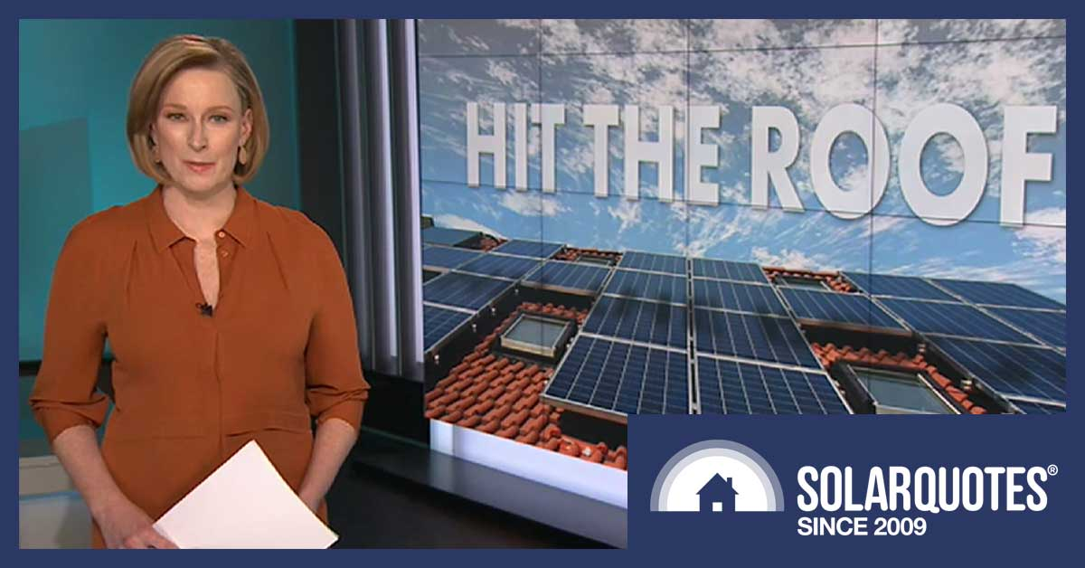 Leigh Sales - ABC 7.30 report on solar power