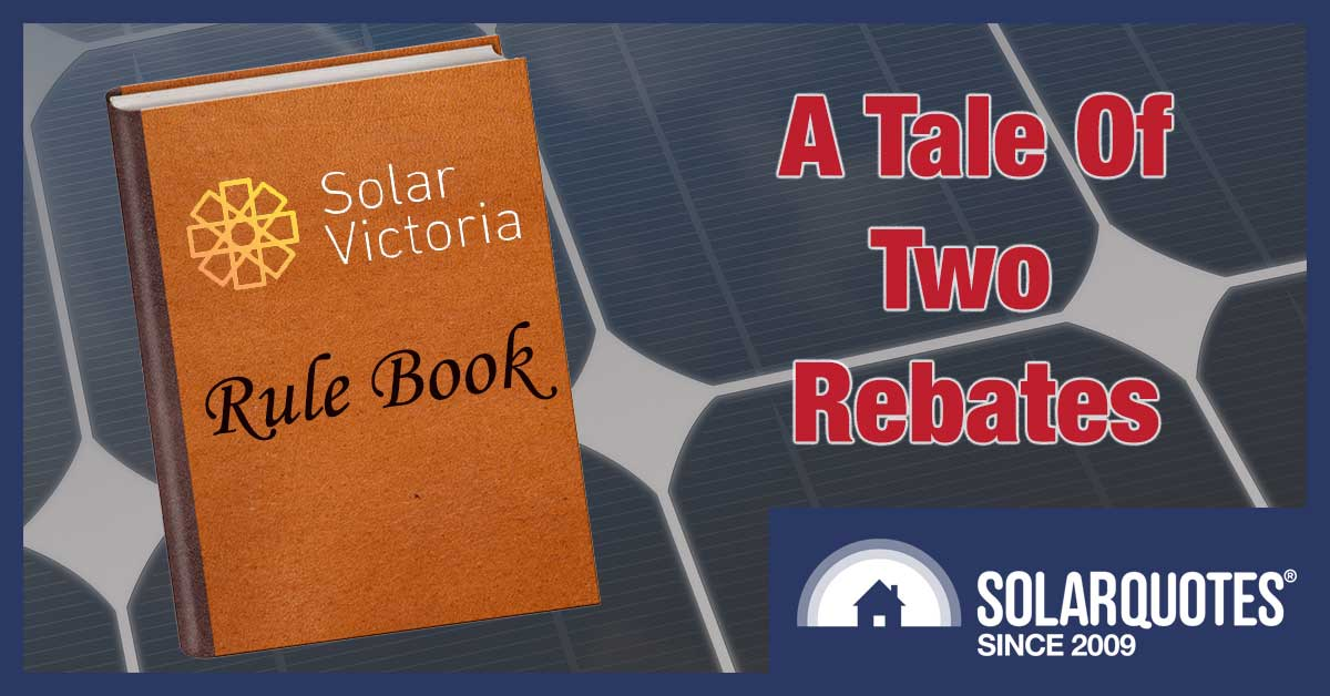 Victorian solar panel rebate vs. battery rebate