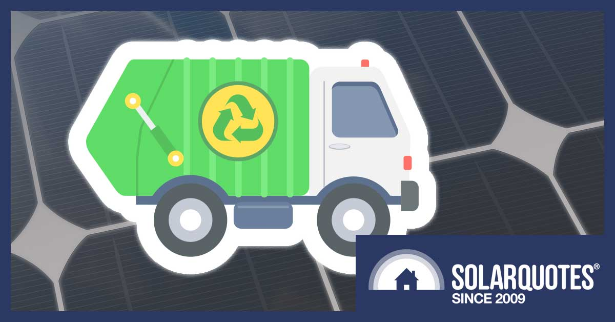 Solar panel recycling and disposal