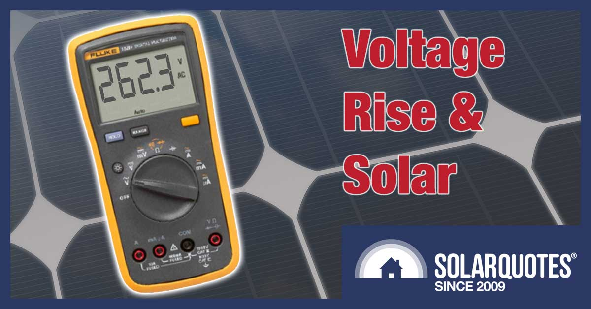 Grid voltage rise and solar energy systems