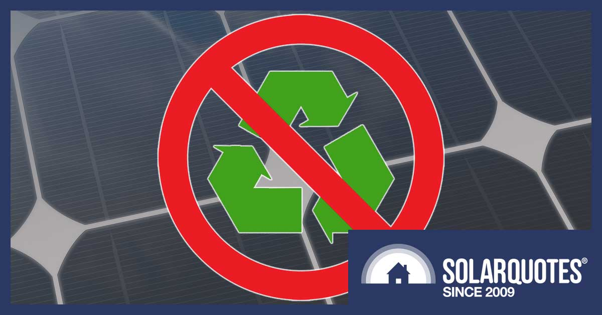 Is solar panel recycling miscycling?