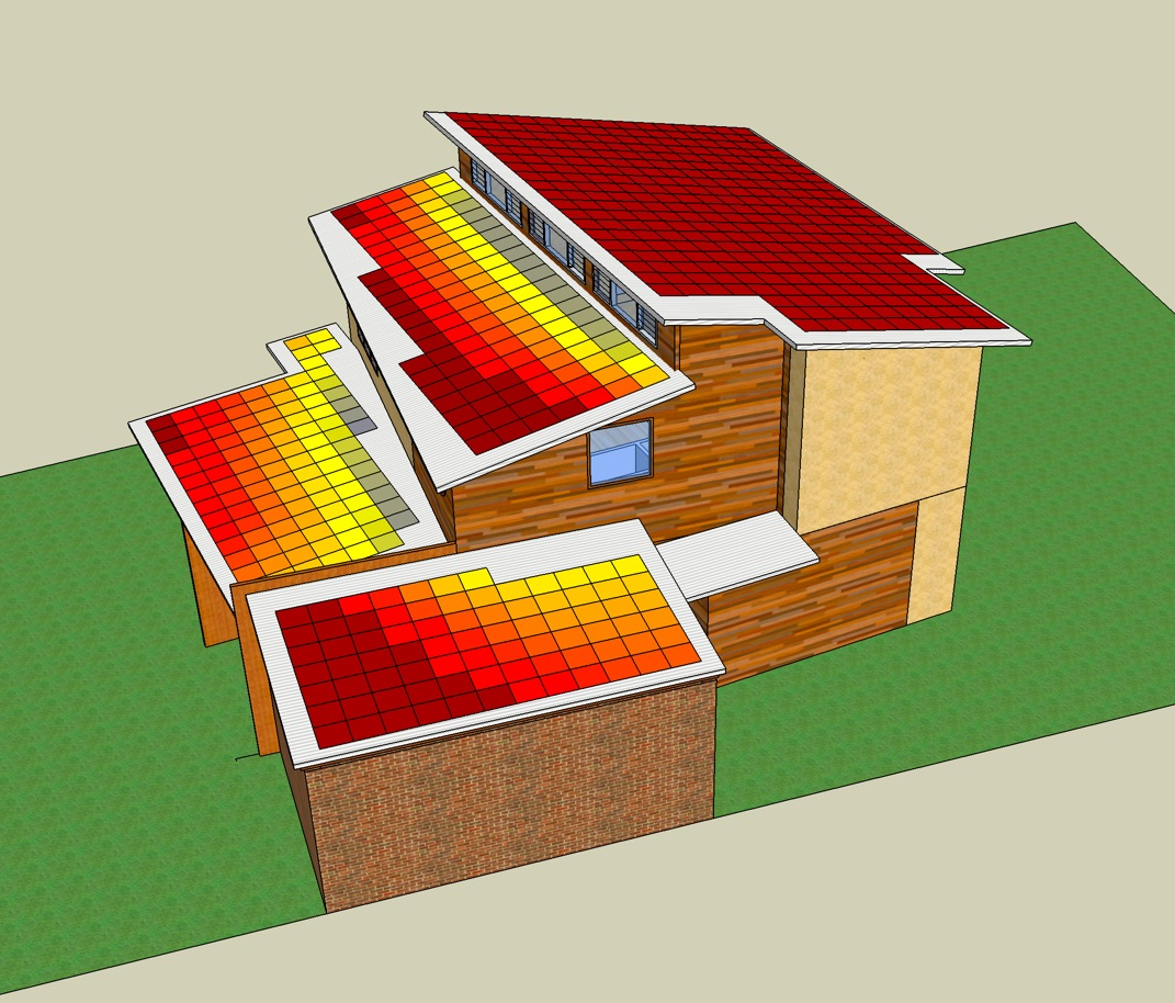 3D modelling solar panels on house