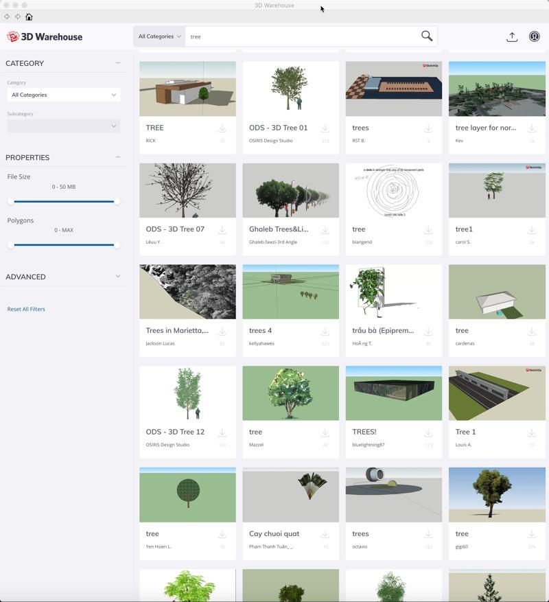 Trees - Sketchup 3D warehouse