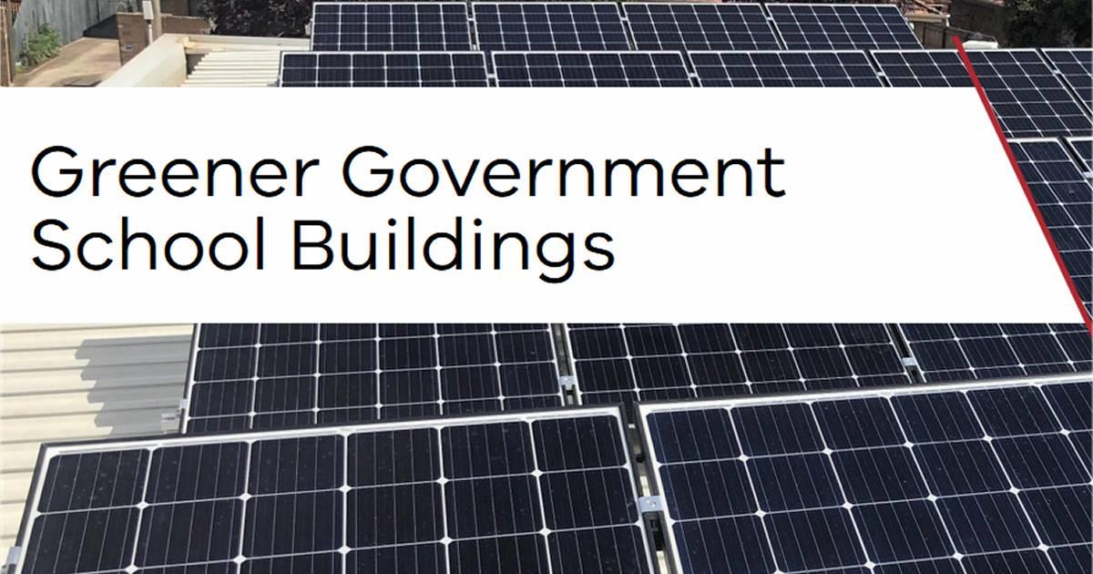 Solar panels for Victorian public schools