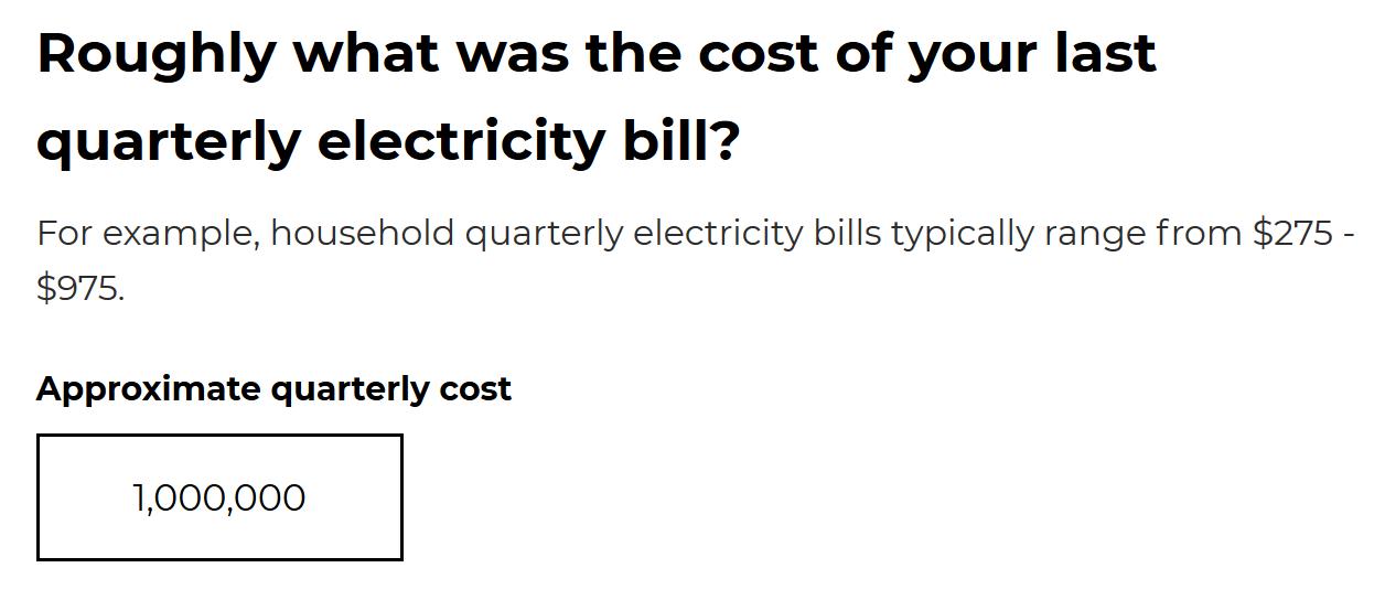 NSW solar battery calculator electricity bill question