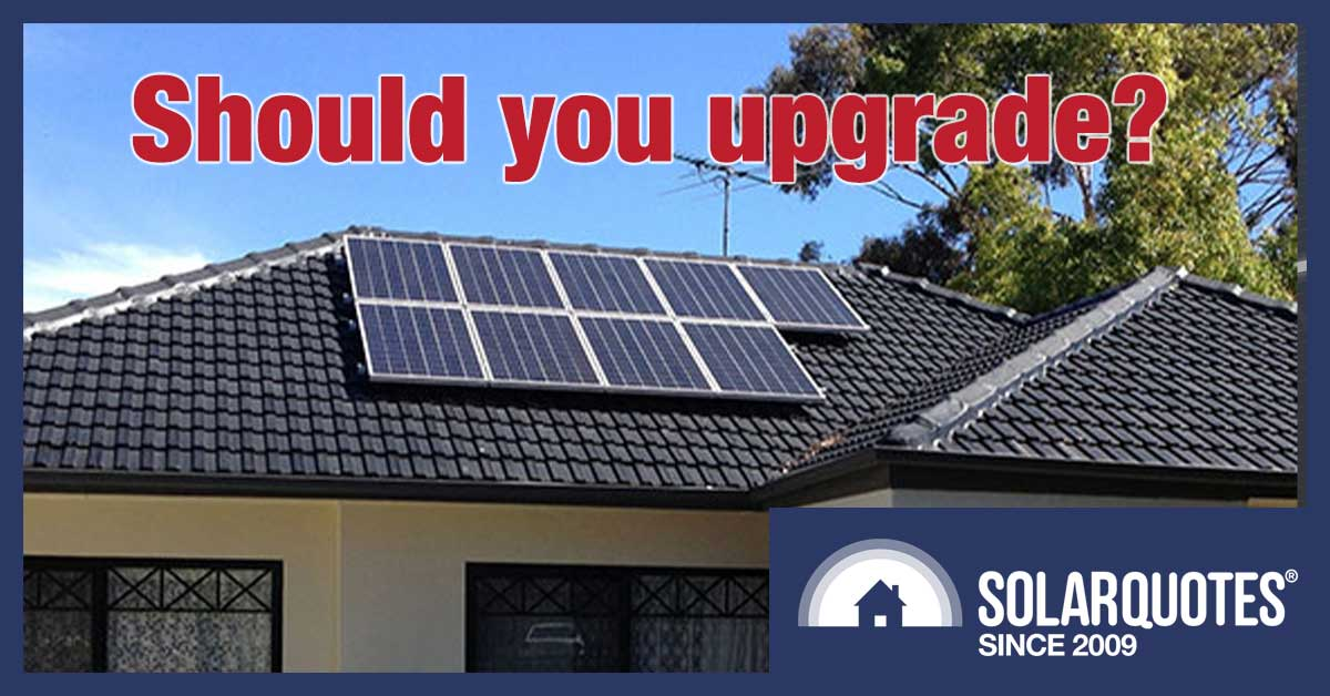Replacing or upgrading a solar power system