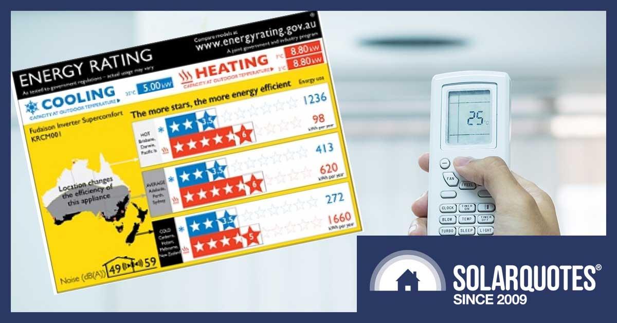 Zoned Energy Rating Label - Australia