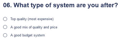 System installation price range