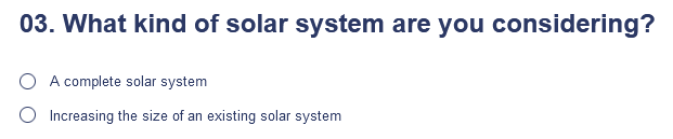 Type of system