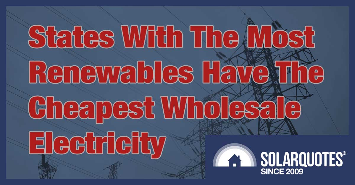 Renewable energy in Australia and wholesale electricity prices