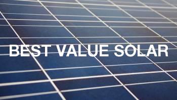 Best value solar