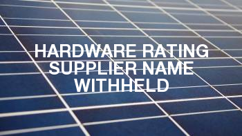 Hardware Rating Supplier Name Withheld