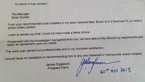 testimonial from james