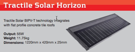 tractile solar roof tile