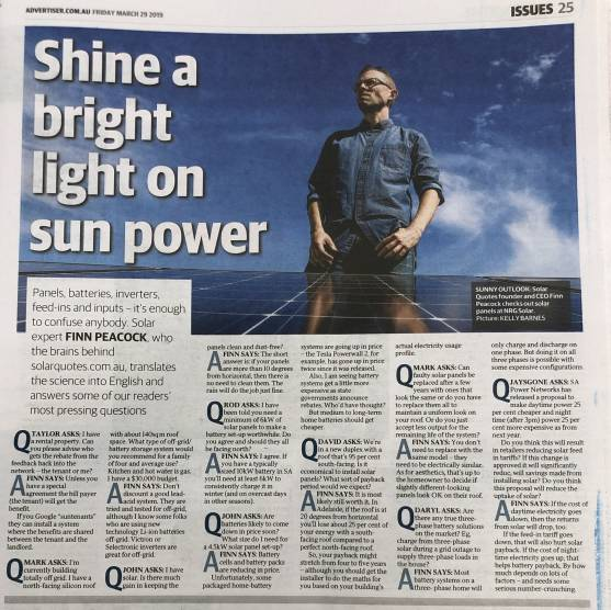 Finn - solar energy - Advertiser
