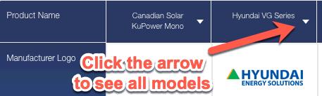 More solar panel models
